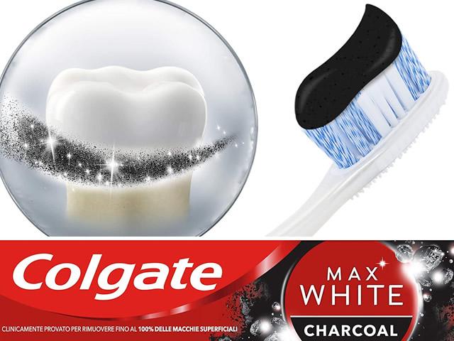 dentifricio sbiancante Colgate Max White Carbon